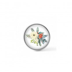 Cabochon / Button for Interchangeable Jewelry - floral bouquet theme