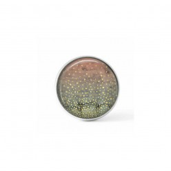 Cabochon / bouton pour bijoux interchangeables - Géode Lac d'hiver