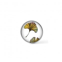 Cabochon / Button for Interchangeable Jewelry - Multicolor Ginkgo leaf theme