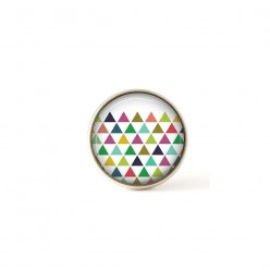 Interchangeable clip on buttons pastel triangles