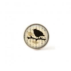 Bouton / Cabochon pour bijoux interchangeables oiseau asie beige