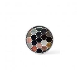 Cabochon / bouton pour bijoux interchangeables - Nid d'abeille terracotta