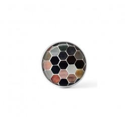 Cabochon / Button for Interchangeable Jewelry - honey-comb theme in neutral colors