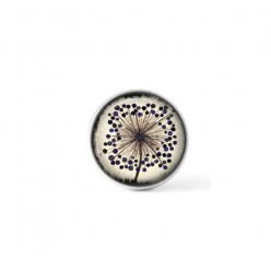 Clip-on snap button for  interchangeable jewelry : single agapanthus flower