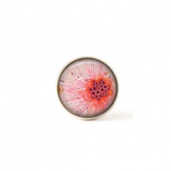 Interchangeable clip on buttons qith a pink abstract floral theme