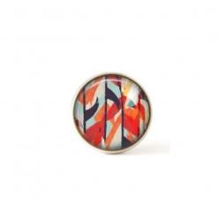 Bouton / Cabochon pour bijoux interchangeables- Aquarelle abstrait rouge