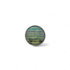 Clip-on snap button for  interchangeable jewelry : Litha geode theme in turquoise and greens