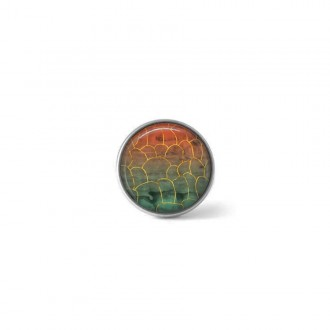 Clip-on snap button for interchangeable jewelry : Mabon autumn geode theme