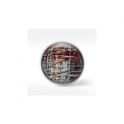 Bouton cabochon clipsable pour bijoux interchangeables : motif ficelles blanc et rouge