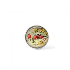 Bouton cabochon clipsable pour bijoux interchangeables : Oiseaux Vintage