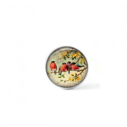 Clip-on snap button for  interchangeable jewelry : vintage robbins theme