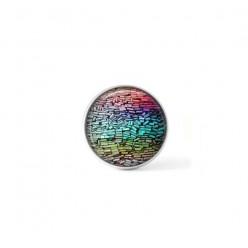 Bouton cabochon clipsable pour bijoux interchangeables : Thème multicolore pastels