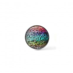 Clip-on snap button for  interchangeable jewelry : rainbow pastels