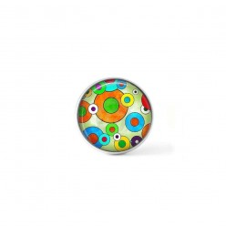 Bouton cabochon clipsable pour bijoux interchangeables : Thème Ronds Pop