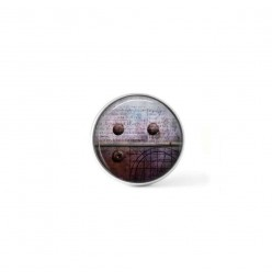 Clip-on snap button for  interchangeable jewelry : Industrious purple rivets theme
