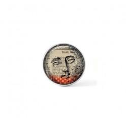 Bouton cabochon clipsable pour bijoux interchangeables : Thème Multimedia Lune