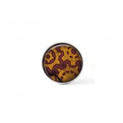 Clip-on snap button for  interchangeable jewelry : steampunk cogs theme in rust