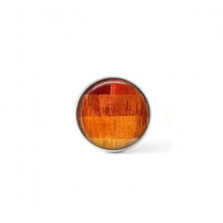 Clip-on snap button for  interchangeable jewelry : orange strings theme
