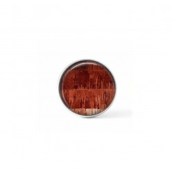 Clip-on snap button for  interchangeable jewelry : rust strings theme