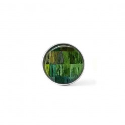 Clip-on snap button for  interchangeable jewelry : Green strings theme
