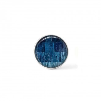 Clip-on snap button for  interchangeable jewelry : Navy blue threads theme