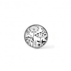 Clip-on snap button for  interchangeable jewelry : naïve flowers theme