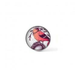 Bouton cabochon clipsable pour bijoux interchangeables : Oiseau massala