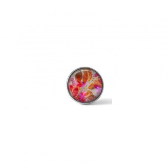 Interchangeable clip on button with an autumn leaves design