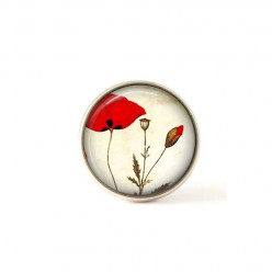 Interchangeable clip on buttons poppies