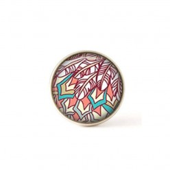 Interchangeable clip on buttons abstract feathers.