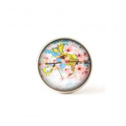 Bouton / Cabochon pour bijoux interchangeables fleurs de cérisier