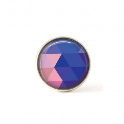 Interchangeable clip on buttons blue triangles