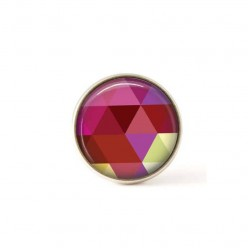Interchangeable clip on buttons pink triangles