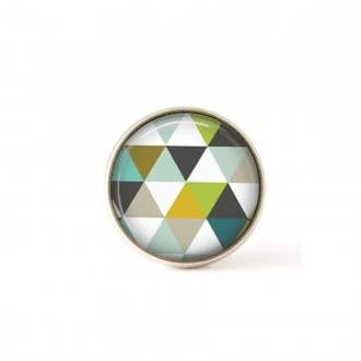 Bouton / Cabochon pour bijoux interchangeables- triangles verts