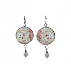Boucles d'oreilles avec perles avec motif floral Liberty