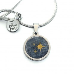 Stainless steel necklace with a Milky Way theme