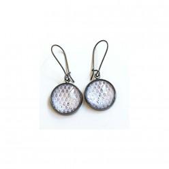 Silver rain drops dangle earrings