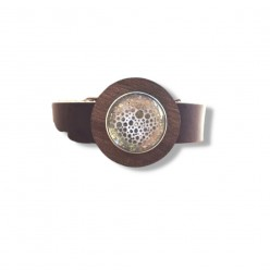 Leather buckle-strap...