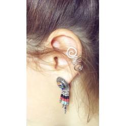 Ear cuff - non pierced ears - ear wraps for unpierced ears double loop
