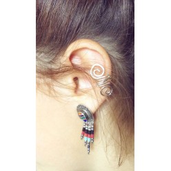 Ear cuff - non pierced ears - double loop