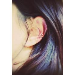 """Boucle d'oreille """"manchette"""" sans piercing petit format simple spirale"""